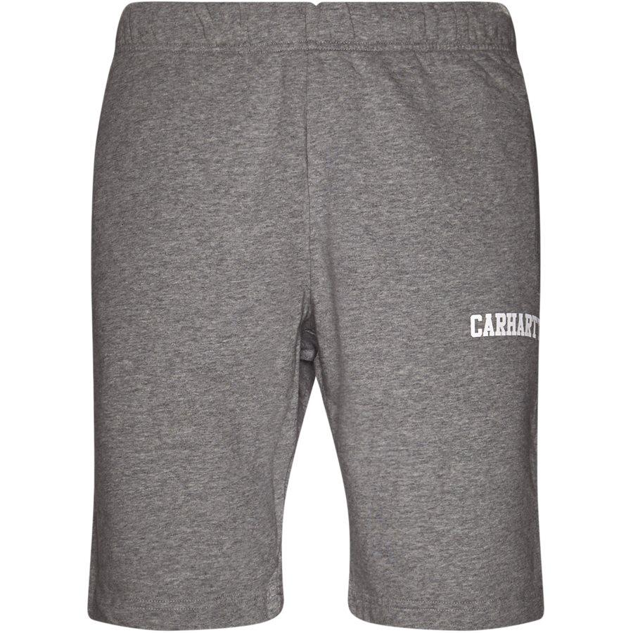 COLLEGE SWEAT SHORT. I024673 - College Sweat Shorts - Shorts - Regular - GREY HTR/WHITE - 1